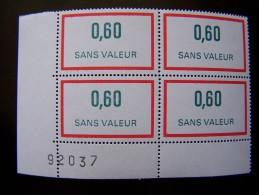 FICTIFS NEUF ** N°F233 SANS CHARNIERE (FICTIF F 233) COIN DE FEUILLE - Phantom