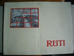 SELTENES Prospekt / Katalog  - MASCHINENFABRIK RÜTI -  1930 - ZH Zurich