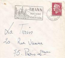 FLAMME DE THANN - HAUT RHIN - 1969 - Oblitérations Mécaniques (flammes)