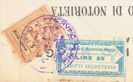 Minervino Murge. 1969. Marche Municipali Su Documento. Una Difettosa. - Italie