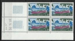 """Coins Datés  YT 1644 """" Martinique """" 1970 Neuf** Du 30.5.70 - Coins Datés"""