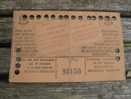 carte tram Bruxelles 1943