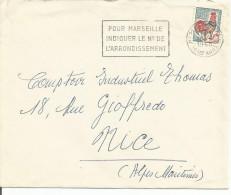 FLAMME DE MARSEILLE - MESSAGE - 1965 - Oblitérations Mécaniques (flammes)