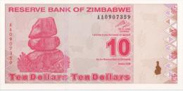 ZIMBABWE - 10 Dollars 2009 - UNC - Zimbabwe