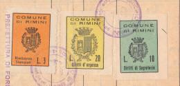 Rimini. 1950. Marche Municipali, Su Documento. - Italie