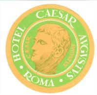 ETIQUETA DE HOTEL  -   HOTEL  CAESAR AUGUSTUS  - ROMA - Hotel Labels