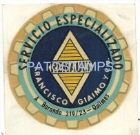 11674 ARGENTINA QUILMES FRANCISCO GIAIMO SERVICIO ESPECIALIZADO RENAULT AUTOMOBILE CAR LUGGAGE NO POSTAL POSTCARD - Unclassified