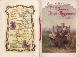 LIVRET CHEMIN DE FER D´ORLEANS DE TOURS A BORDEAUX POITOU -ANGOUMOIS 26 PAGES - France