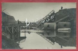 Gent - Oorlog 1918 - Pont Du Snep - Fotokaart ( Verso Zien ) - Gent
