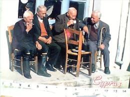 CIPRO COFFE SHOP ANZIANI OLD MEN   V1996  EV652 - Cipro