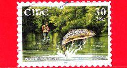 IRLANDA - Usato - 2001 - Europa  - C.E.P.T. - Pesca Con La Lenza - Water - Pesce E Pescatore -  30 P. - 0,38 € - Usati