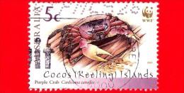 Isole COCOS - Usato - 2000 - Fondo Mondiale Per La Natura - Purple Crab - WWF - 5 - Isole Cocos (Keeling)