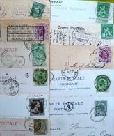 Lot +-80 Cp Bruxelles Brussel Monuments Place De 1899 A 1925  Toutes En Ligne Avec Dos Cachet Poste Et Timbres - Belgique