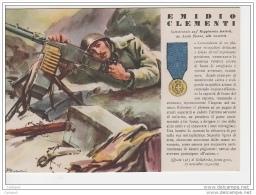 ^ MEDAGLIA D´ORO N. 57 EMIDIO CLEMENTI FANTERIA ASCOLI GOLLOBORDA 162 - Guerra 1939-45