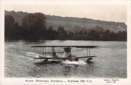 Aviation - Avion Amphibie Schreck, Biplace 180 C.v. (hydravion) - Avions