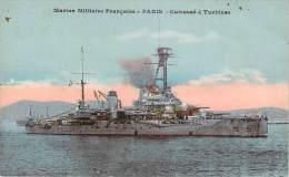 Bateaux - Marine Militaire Française, Paris, Cuirassé à Turbines - Guerre