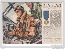 ^ MEDAGLIA D´ORO N. 51 BRUNO CALEARI SUSAK FIUME PILOTA IDROVOLANTE AVIAZIONE 162 - Guerra 1939-45