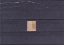 N� 18 - 1F carmin - Oblit�r� , 3eme choix , r�par� grossi�rement , beau d'aspect . pour boucher la case