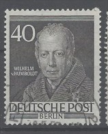 Berlino - 1952 - Usato/used - Personaggi Famosi - Mi N. 100 - Usati