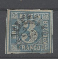 Bayern - 1850 - Usato/used - Annullo 240 - Mi N. 2 II - Bayern (Baviera)