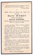 Souvenir Pieux, Marie WANET (S. Marchal), Décédée à Braives En 1942 - 2 Scans - Devotieprenten