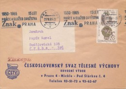 J2995 - Czechoslovakia (1965) Praha 025: Promotional Postmark Machine (stamp: 20h - Olympic Games 1928 Amsterdam)