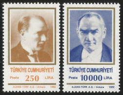 TURKEY 1992 (**) - Mi. 2950-51, ATATÜRK Regular Issue Stamps - 1921-... République