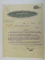 Facture Invoice Litho Lechat  Lille Paris Gand 1905 Chat Courroies - France