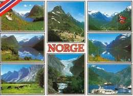 NORWEGEN Mehrbilderkarte Gel.mit Sondermarke - Norwegen
