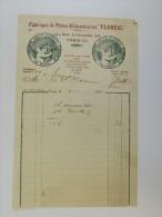 Facture Invoice Litho Fabrique Pâtes Alimentaires Rue La Fayette Paris 1932 - France