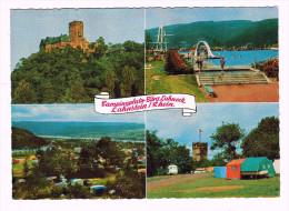 4494   Cpm     Campingplatz Bürg Lahneck  LAHNSTEIN  / Rhein  ; Multivues - Lahnstein