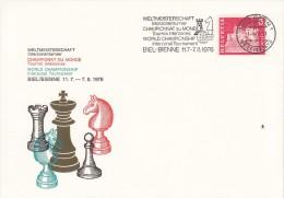 SCHACH-CHESS-ECHECS-SCACC HI, Switzerland, 1976, Special Postmark !! - Scacchi