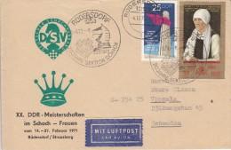 SCHACH-CHESS-ECHECS-SCACC HI, GDR/DDR, 1972, Special Postmark !! - Schaken