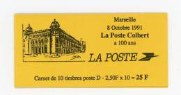 Carnet  - N° 2712 C 1 -  Marseille La Poste Colbert  - Voir Scan - Usados Corriente