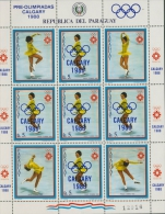 Paraguay 1986 Olympiade Calgary, Eiskunstlauf 4001 Kleinbogen Postfrisch (G9454) - Paraguay