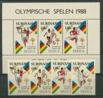 Surinam 1988 Olympiade Seoul 1264/67 Block 47 postfrisch (R9426)