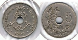 BELGICA 5 CENTS FRANC 1906  FLAMENCO E1 - 1865-1909: Leopold II