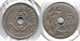 BELGICA 5 CENTS FRANC 1906  FLAMENCO E1 - 1865-1909: Leopoldo II