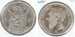 BELGICA FRANC 1887 PLATA SILVER  FLAMENCO E1 - 07. 1 Franco