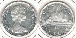 CANADA  DOLLAR 1966  CANOA PLATA SILVER E1 - Canada
