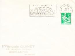 Flamme De La Clayette-son Chateau-son Lac--Cheval-25/02/1959 - Sellados Mecánicos (Publicitario)