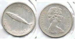 CANADA 10 CENTS DOLLAR 1967 PLATA SILVER E1 - Canada