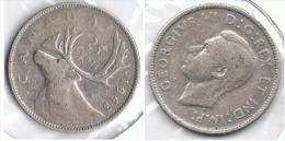 CANADA 25 CENTS DOLLAR 1957 PLATA SILVER E1 - Canada
