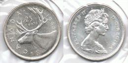 CANADA 25 CENTS DOLLAR 1965 PLATA SILVER E1 - Canada