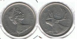 CANADA 25 CENTS DOLLAR 1968 PLATA SILVER E1 - Canada