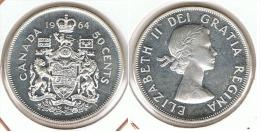 CANADA 50 CENTS DOLLAR 1964 PLATA SILVER E1 - Canada