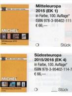 MICHEL Part 1+4 Mittel/Südost-Europa Catalogue 2015/2016 New 132€ A CH Genf Wien CZ CSR HU Kreta SRB BG GR RO TR Cyprus - Télécartes