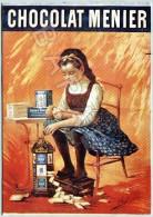 Publicité Sur Carte Postale - Chocolat Menier - Reclame