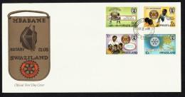 1985  80à Anniversaire  Du Rotary International  FDC  Non Adressé - Swaziland (1968-...)