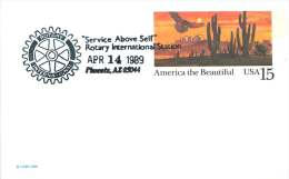 1989  Rotary International -8oth Convention  Commemorative Cancel On  Postcard - Schmuck-FDC
